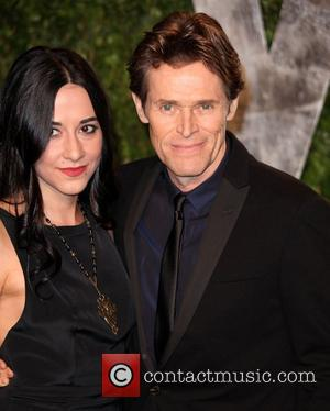 Giada Colagrande and Willem Dafoe 2012 Vanity Fair Oscar Party at Sunset Tower Hotel - Arrivals West Hollywood, California -...