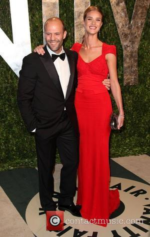 Jason Statham and Rosie Huntington-Whiteley 2012 Vanity Fair Oscar Party at Sunset Tower Hotel - Arrivals West Hollywood, California -...