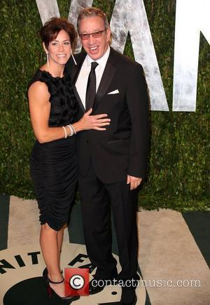 Jane Hajduk and Tim Allen 2012 Vanity Fair Oscar Party at Sunset Tower Hotel - Arrivals West Hollywood, California -...