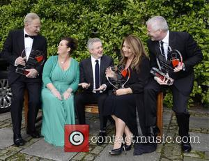 Dr Fin Breatnach, Doreen Smyth (Variety), Louis Walsh, Caroline Downey, Derek O'Neill Variety Children's Charity Humanitarian Awards Gala Dinner at...