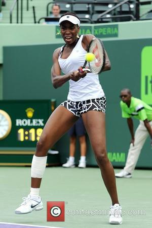Venus Williams Venus Williams (USA) competes against Aleksandra Wozniak (CAN) in their third round match at the Sony Ericsson Open...