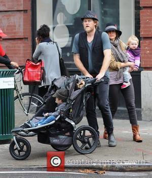 Renn Hawkey, Vera Farmiga, Gytta Lubov Hawkey and Fynn Hawkey Vera Farmiga out and about with her husband and children...