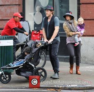 Renn Hawkey, Vera Farmiga, Gytta Lubov Hawkey and Fynn Hawkey Vera Farmiga out and about with her husband and children...