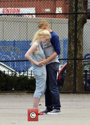 Dakota Fanning and Boyd Holbrook on the set of their new film 'Very Good Girls' shooting on location in Manhattan...