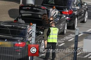 Victoria Beckham, Harper Beckham and Heathrow Airport