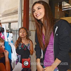 Disney Star Victoria Justice pose with fans and sign autographs outside the The Ritz-Carlton Hotel Philadelphia, Pennsylvania - 17.08.12
