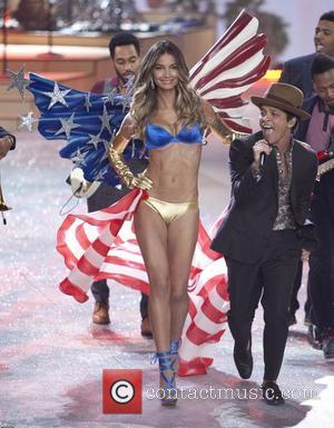 Lily Aldridge, Bruno Mars and Victoria Secret