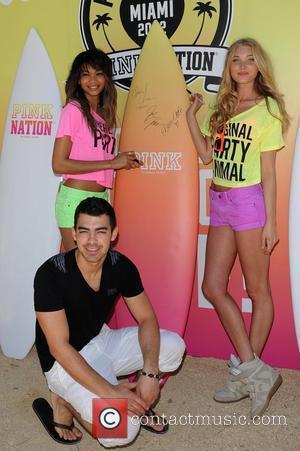 Joe Jonas, Chanel Iman and Victorias Secret