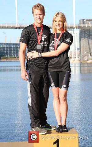 Sam Branson, Isabella Calthorpe Virgin Active London Triathlon - photocall at The Excel Centre London, England - 22.09.12