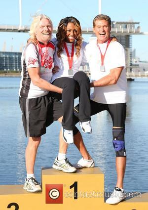 Sir Richard Branson, David Hasselhoff and Alexandra Burke