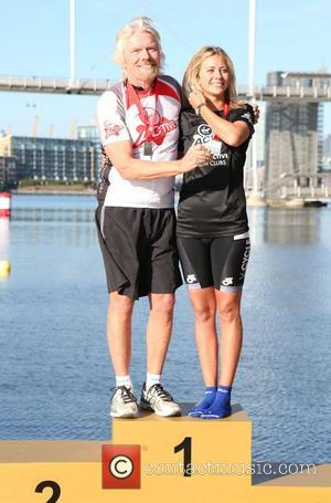 Sir Richard Branson, Holly Branson Virgin Active London Triathlon - photocall at The Excel Centre London, England - 22.09.12