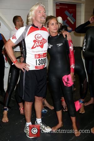 Sir Richard Branson Virgin Active London Triathlon - photocall at The Excel Centre London, England - 22.09.12
