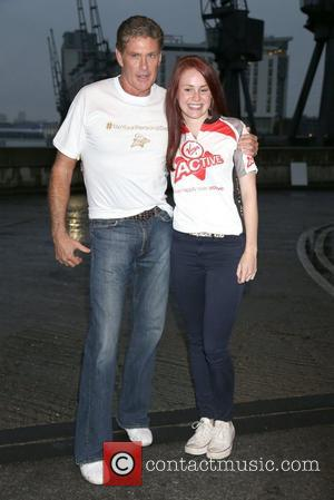 David Hasselhoff and Lucy Hall