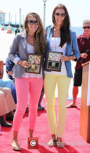 Whitney Pavlik and Jenny Kropp Pro Beach Volleyball Walk of Fame Ceremony held on Manhattan Beach Los Angeles, California -...