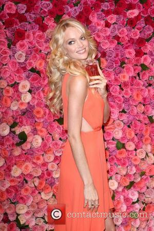 Lindsay Ellingson Victoria's Secret models launch Love is Heavenly fragrance and new Dream Angels bra collection in Soho New York...
