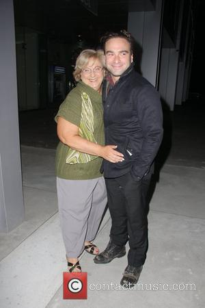 Johnny Galecki and his mother Mary Lou Galecki W Magazine's 69th Annual Golden Globe Awards Celebration - Outside Departures...