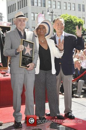 Walter Koenig, George Takei, Nichelle Nichols and Star On The Hollywood Walk Of Fame
