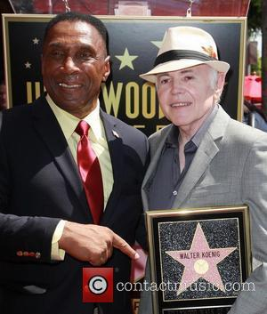 Herbert Jefferson Jr. and Walter Koenig Walter Koenig is honored with a star on the Hollywood Walk of Fame Los...