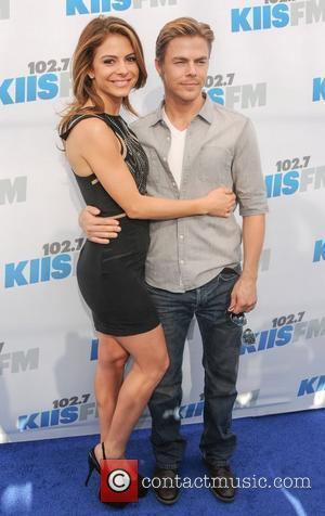 Derek Hough and Maria Menounos 102.7 KIIS FM's Wango Tango at The Home Depot Center - Arrivals Los Angeles, California...