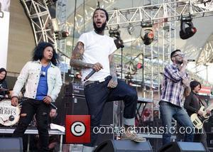 Travis Mccoy, Adam Levine and Gym Class Heroes