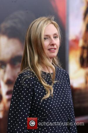 Hope Davis,  at the World Premiere of 'War Horse' at Avery Fisher Hall in the Lincoln Center for The...