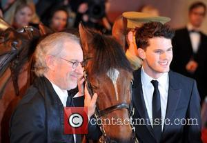 Steven Spielberg, Jeremy Irvine and Odeon Leicester Square