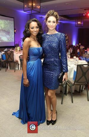 Kat Graham and Emmy Rossum The Ripple Effect Benefiting The Water Project Charity held at Sunset Luxe Hotel - Inside...