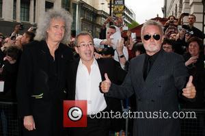 Brian May, Ben Elton and Roger Taylor