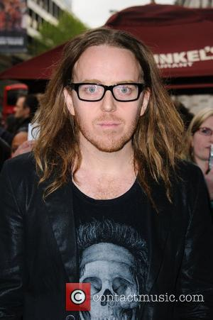 Tim Minchin 'We Will Rock You' 10th year anniversary performance - arrivals London, England - 14.05.12