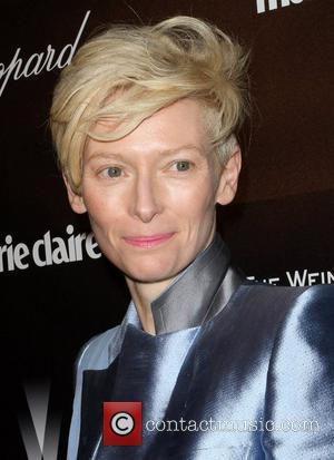 Tilda Swinton and Beverly Hilton Hotel