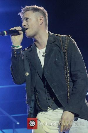 Nicky Byrne of Westlife performs on stage at the 02 Arena. London, England -12.05.12