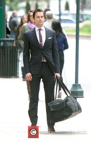 Matt Bomer films scenes for USA Network's drama series 'White Collar' New York City, USA - 27.04.12