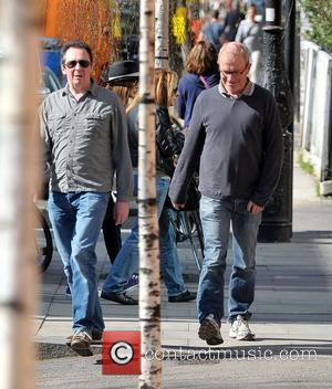 Harry Enfield and Paul Whitehouse going for lunch in Primrose Hill London, England - 27.03.12