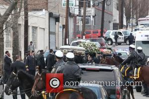 Whitney Houston's casket The funeral of Whitney Houston at the New Hope Baptist church in Newark. New Jersey, USA -...