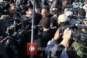 Rev. Jesse Jackson The funeral of Whitney Houston at the New Hope Baptist church in Newark. New Jersey, USA -...