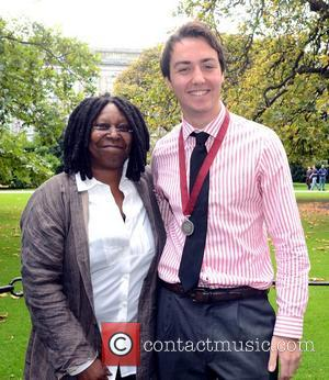 Whoopi Goldberg, Lorcan Clarke Phil President Whoopi Goldberg receives the Gold Honorary Medal of Patronage from Trinity College Philosophical Society,...