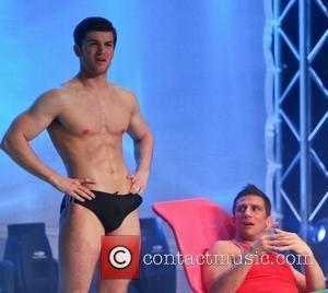 Alex Reid Press night of 'Wildboyz' at the Gordon Craig Theatre. Stevenage, England - 24.04.12