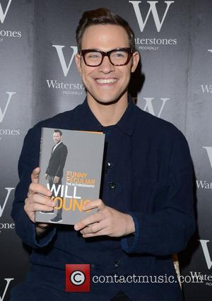Will Young signs copies of his book 'Funny Peculiar' at Waterstones Piccadilly London, England - 26.10.12