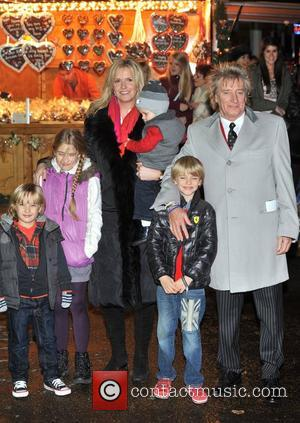 Rod Stewart and Penny Lancaster Hyde Park Winter Wonderland - launch party. London, England - 22.11.12