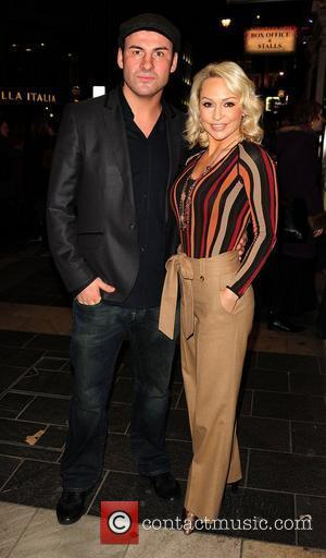 Joe Calzaghe and Kristina Rihanoff  attending the The Wizard of Oz - media night at the London Palladium, London,...