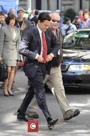 Leonardo DiCaprio  filming scenes for 'The Wolf of Wall Street' in Manhattan  New York City, USA - 25.08.12