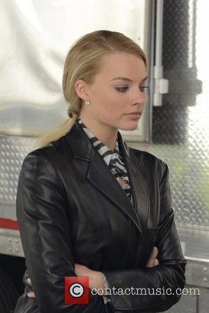 Margot Robbie filming scenes for 'The Wolf of Wall Street' in Manhattan  New York City, USA - 25.08.12