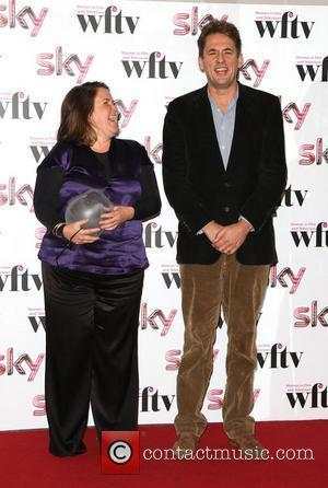 Jane Frazer and Tim Bevan, winner of International Film Guarantors Project management award The Sky Women in Film and Television...