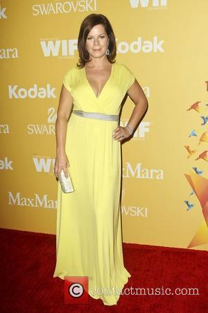 Marcia Gay Harden and Beverly Hilton Hotel