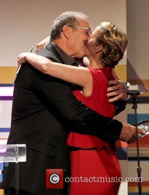 Ed O'Neill and Christina Applegate Women in Film 2012 Crystal + Lucy Awards_Show Held at The Beverly Hilton Hotel Beverly...