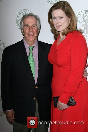 Henry Winkler and Sarah Brown  Women's Guild of Cedars-Sinai Annual Spring Luncheon held at Beverly Hills Hotel Beverly Hills,...