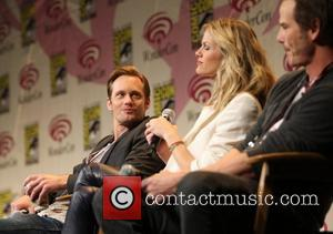 Alexander Skarsgard, Brookyln Decker and Peter Berg  Wondercon 2012 - 'Battlefield' press conference Anaheim, California - 17.03.12