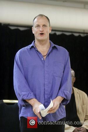 Woody Harrelson  meet and greet with the cast of 'Bullet for Adolf' held at the Snapple Theatre Center Rehearsal...