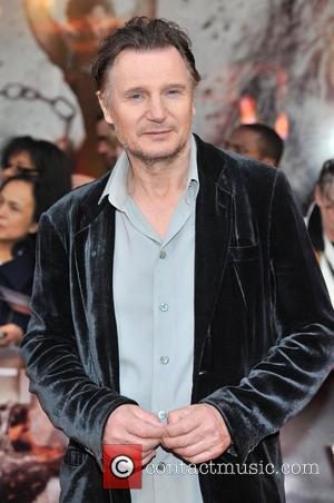 Liam Neeson UK film premiere of 'Wrath of the Titans' held at the BFI Imax - Arrivals. London, England -...