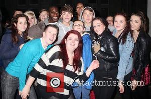 District3 swamped by fans as they arrive back at their hotel after the X Factor show. London, England - 04.11.12...